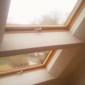 schuin aangewerkte dakvensters